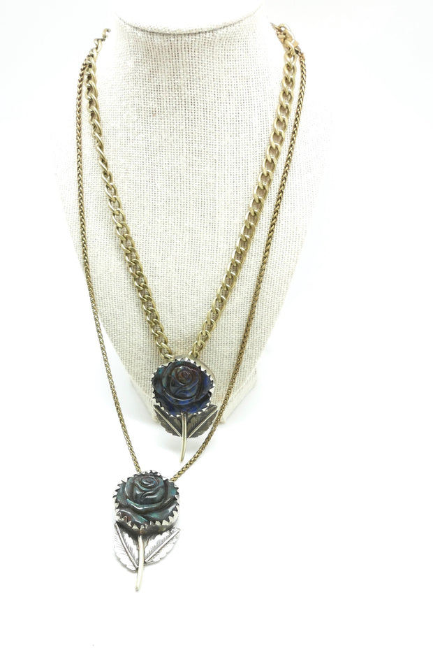 Labradorite Rosetta Necklace