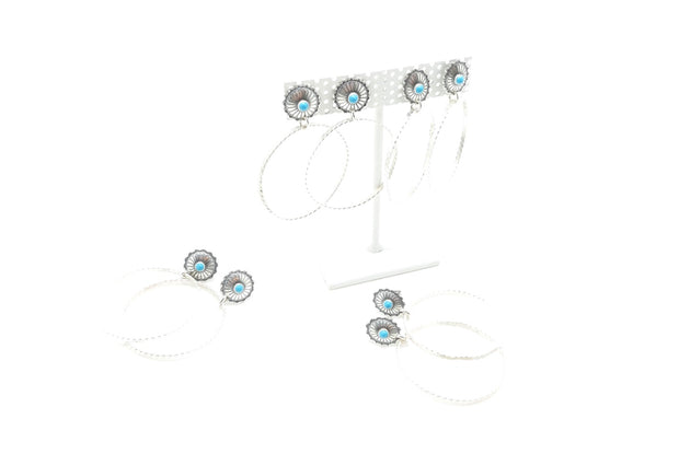 Turquoise conch mini stud-hoops