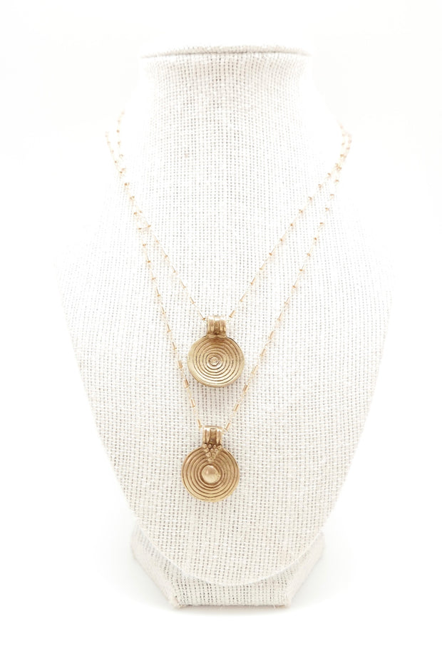 The Golden Labyrinth Coin Necklace