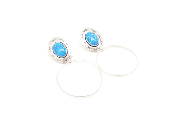 The Ophelia Opal Stud-Hoops