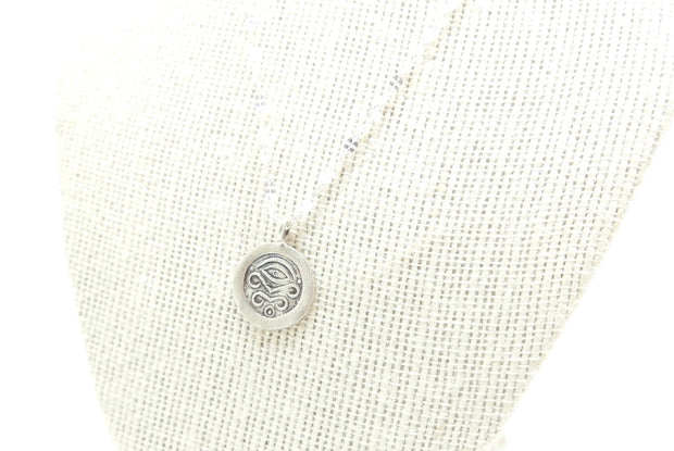 Silver Eye Emmadora Coin Necklace