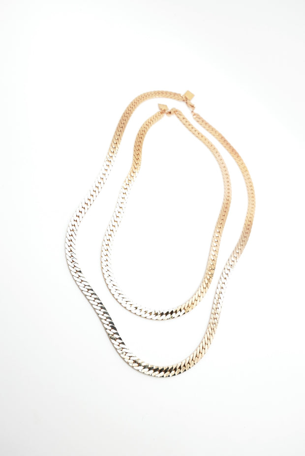 The Carmella Heavy Vintage Gold Chain (3 lengths)