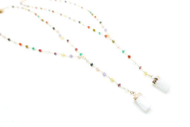 Rainbow Gem Selenite Lariat