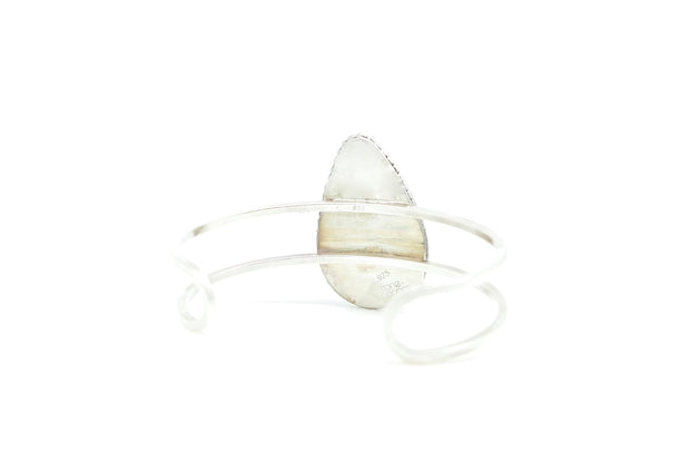 The Isla Moss Quartz Silver Cuff