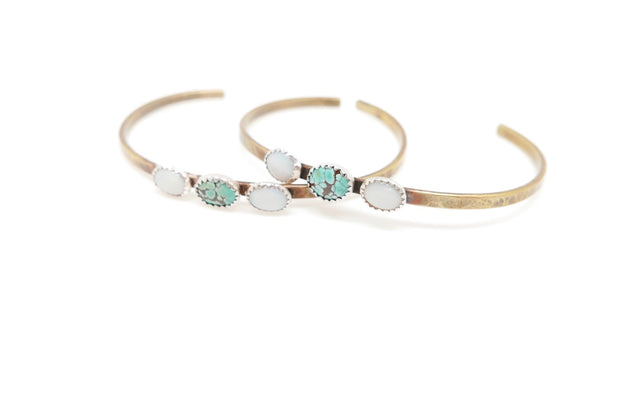 Opal and Turquoise Meadow Cuff