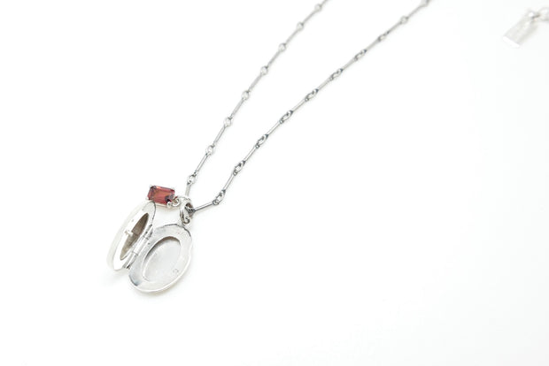 The Garnet Rose Locket