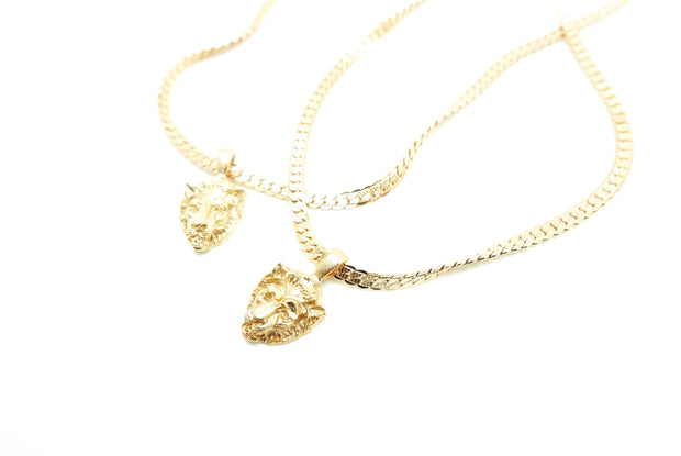 Vintage Golden Warrior Lion Necklace