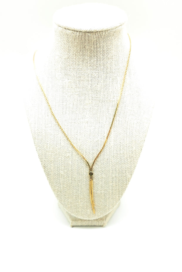 Vintage Golden Tie Necklace