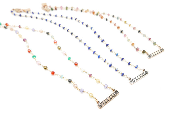 Moon-phase Gemstone Necklace