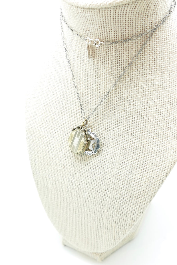 The Antique Lonestar Coralee Locket Necklace