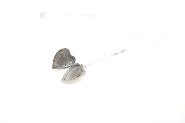 Silver Antique I love You Locket