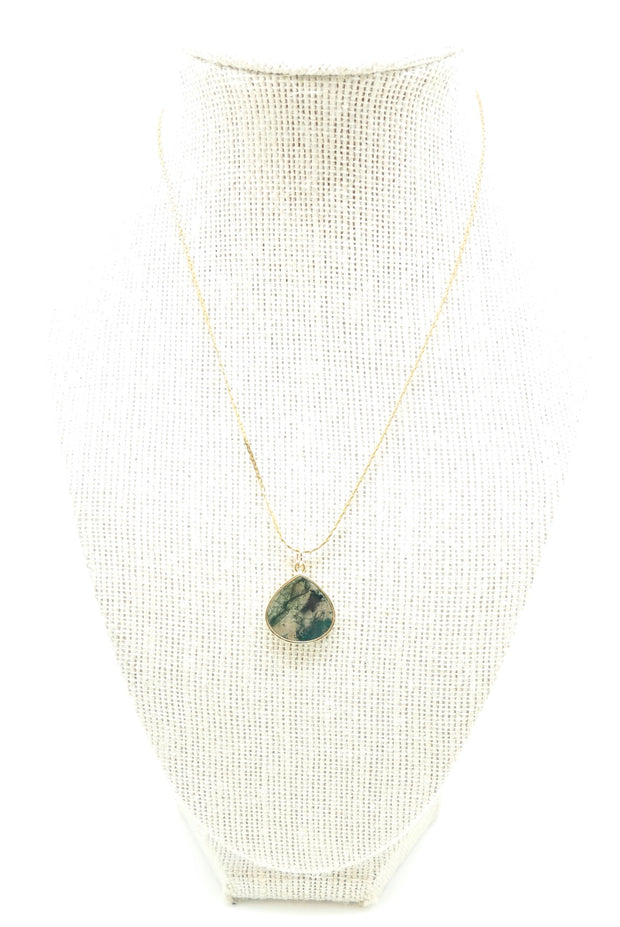 The Moss Quartz Marie Necklace