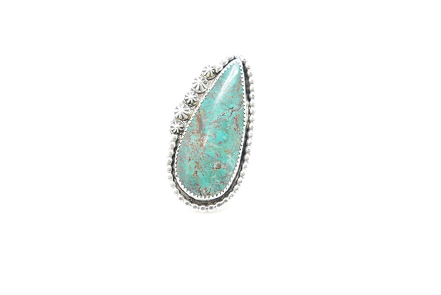 Turquoise 5-point Tear Ring (7)