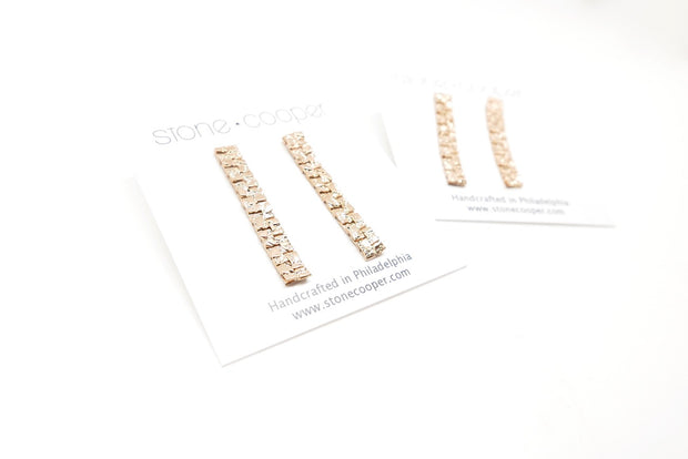 Vintage Gold-plated Chain Studs
