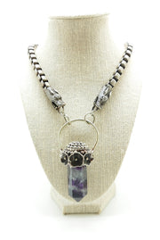 Fluorite Dragon Necklace