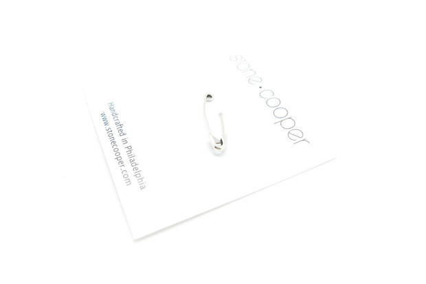 Sterling Silver Punk Rock Safety Pin Earring