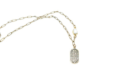 Scarab Pearl Cleo Necklace