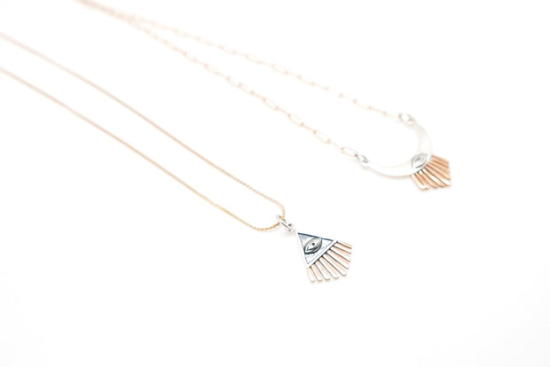 Evil Eye Beams Necklace