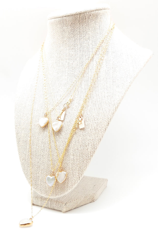 Pearly Heart Necklace