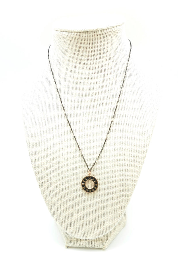 Moonphase Coin Necklace