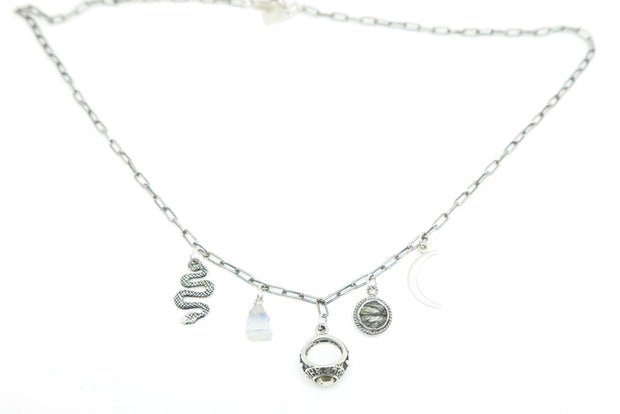 Silver Occult Charm Necklace