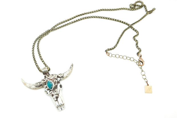 Turquoise Longhorn Necklace