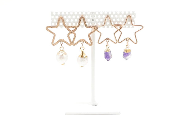 Royal Amethyst Star Studs