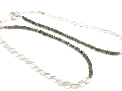 Quartz & Labradorite Half-and-Half Choker