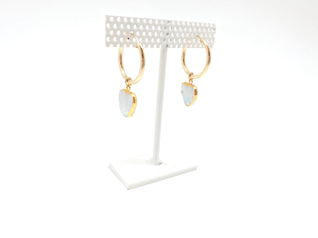 Pearl Heart Hoops