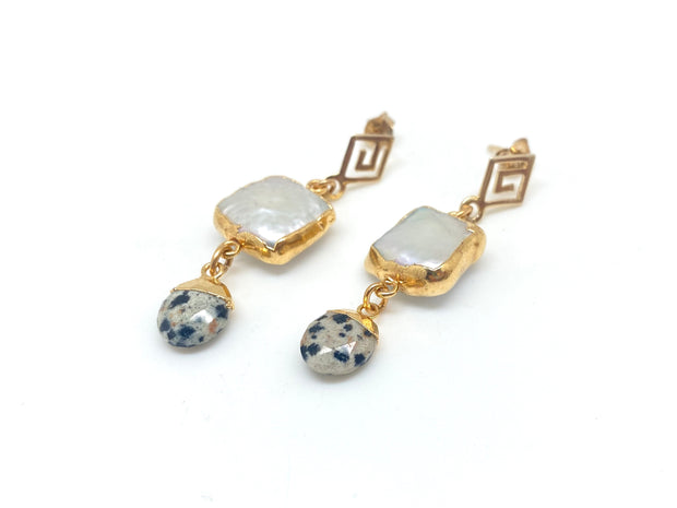 Leopard Pearl Retro Earrings