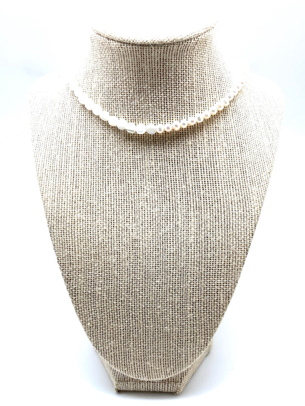 Pearl and Mother-of-Pearl Half-and-Half Choker