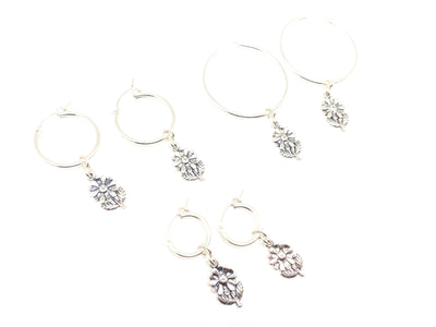 Sterling Silver Plant Lady Hoops