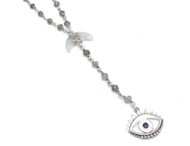 Good Vibes Evil Eye Lariat