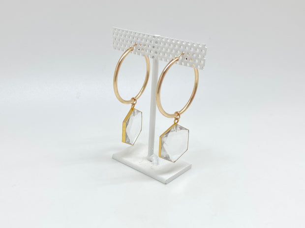 Quartz Supreme Hexagon Hoops