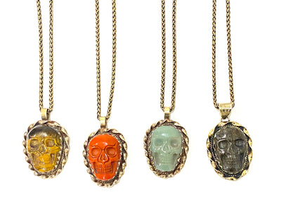 The Gemstone Skull Necklace