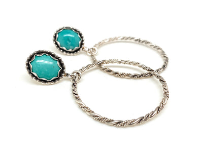 Turquoise Heirloom Hoops