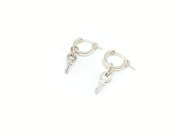 Tiny Key Huggy Hoops