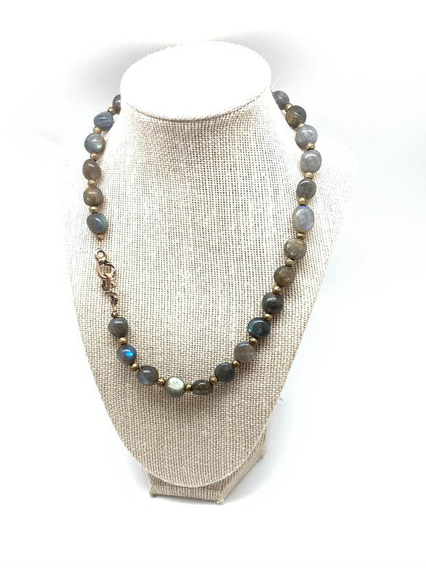 Labradorite Sacred Snake Necklace
