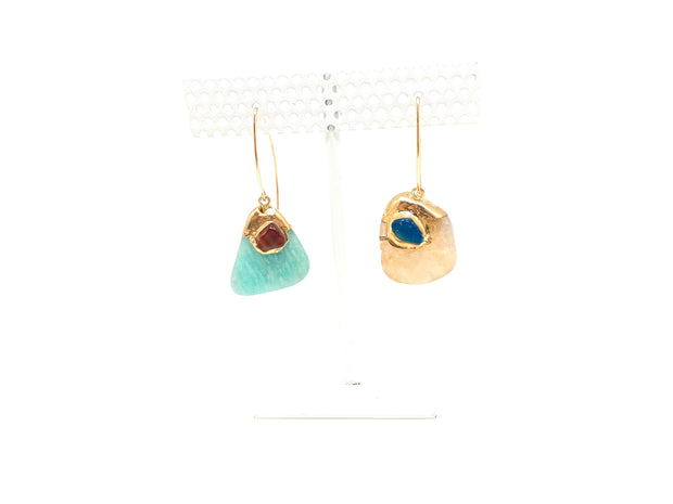 Esther Mixed Gem Drop Earrings