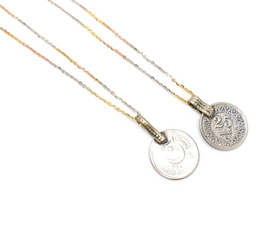 The Tri-Color 25 Coin Necklace