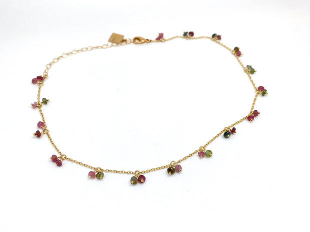 Watermelon Tourmaline Drop Choker