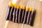 Houston chocolate dipped orange peels