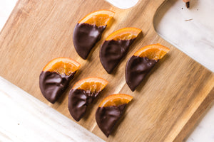 Houston chocolate dipped orange slices