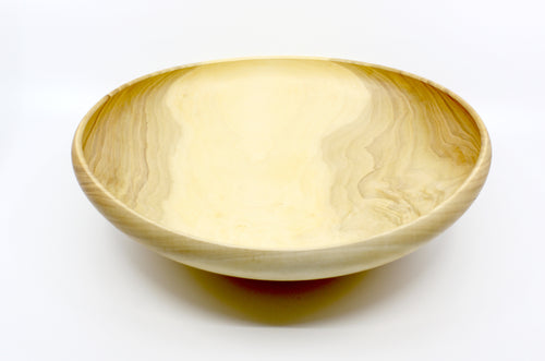 Oval Salad Style Round Rim Bowl in Maple