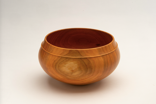Luna Carved Bowl in Cherry Wood