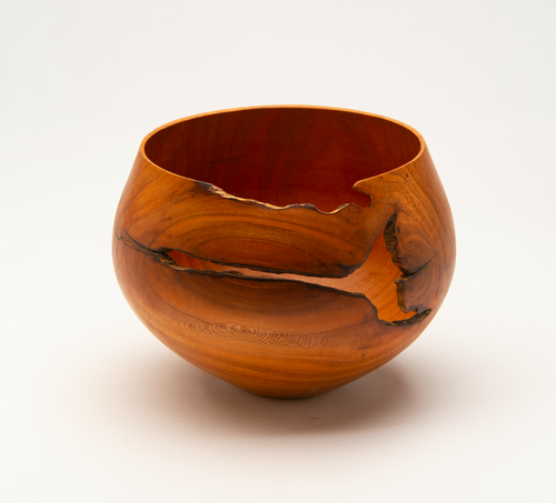 Astral Carved Bowl in Cherry