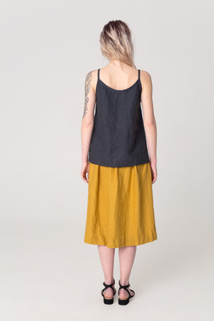 The Soulmate Store MARY Natural Linen Skirt