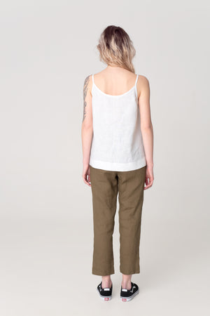 The Soulmate Store White Linen Top