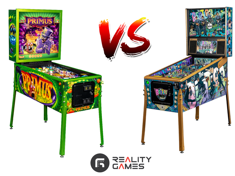Primus Vs The Beatles - Battle Of The New Music Pinball Machines!