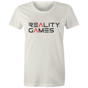 Reality Games AS Colour - Women's Maple Tee (Text Logo) - Reality Games Australia